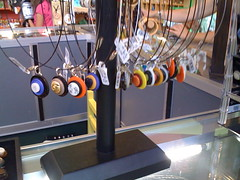 Jewelry on the counter at the Biodome (Dino Girl) Tags: montreal anticipation worldcon