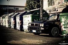 Raduno a Scuola (Turbo Delta) Tags: world blue school italy 6 rome roma photography graffiti italia time blu rally madras champion 4wd delta bin turbo eur scatola 2009 meet lancia scuola dario hf raduno deltona carbone immondizia integrale cassonetti deltone