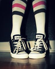 C is for Converse (lauramidd :D) Tags: alphabet allstars stripeysocks woopwoop 365project blacklowtops week14through1712 thatsforyouannettenomoreholeyshoes theonlytennisshoesiwear casademidd