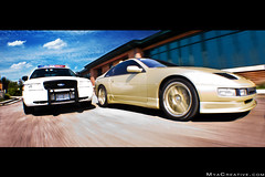 High Speed Chase!!! (jeremycliff) Tags: cliff car speed japanese gold high dangerous nissan wheels young fast police jeremy turbo rig cop chase dual custom rare blackie pursuit 300zx jeremycliff myacreativecom myacreative