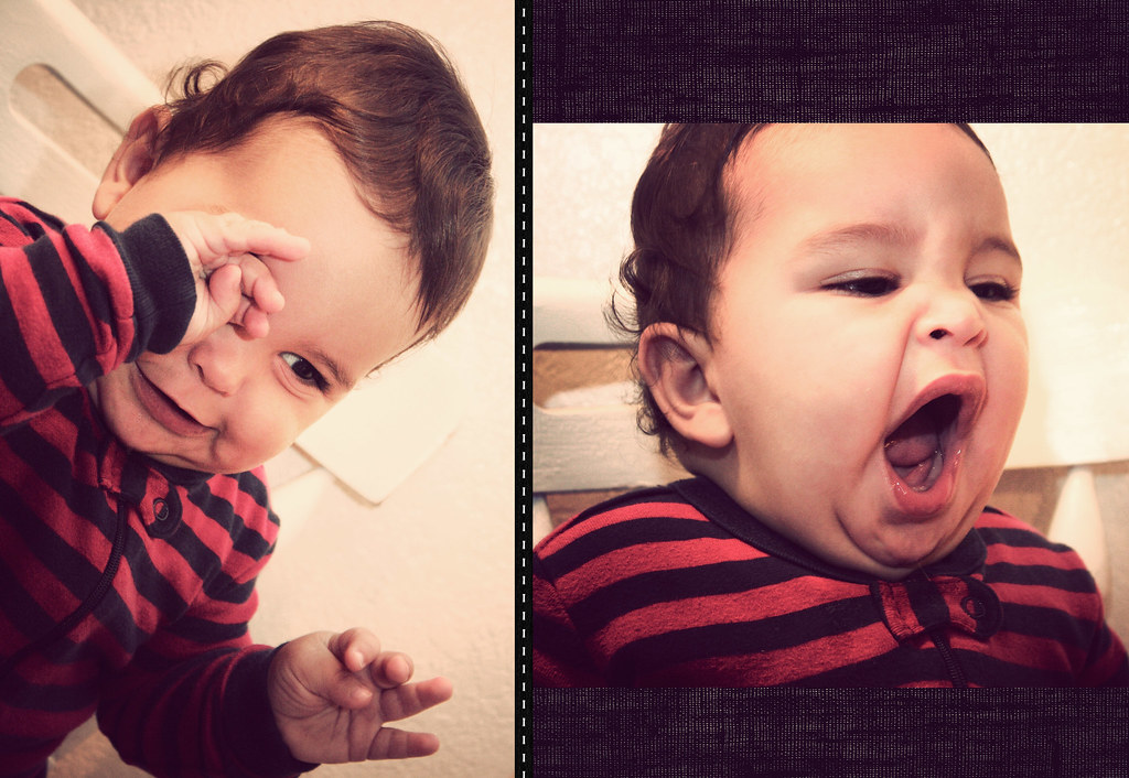 Adorable Sleepy 7 month old baby, Jack by Emily Horne