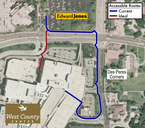 Accessible routes to West County Center