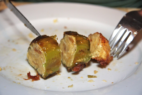 Eating Stuffed Peppers