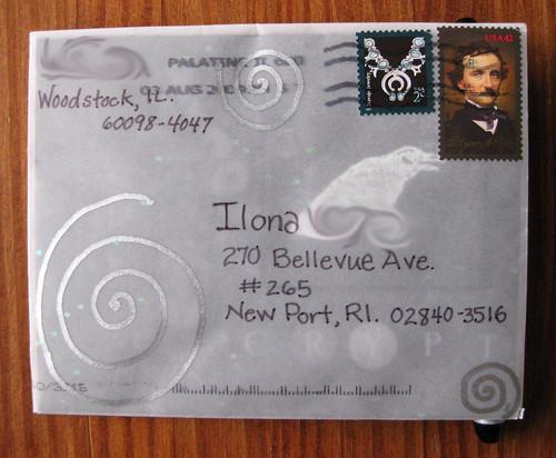 Silvery raven envelope