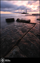 Beachcoma (f22 Digital Imaging) Tags: ocean uk sea england lighthouse water sunrise canon newcastle landscape coast sigma whitleybay crepuscolo stmaryslighthouse stmarysisland britishseascapes crepuscolosunsetssunrisesnights f22digitalimaging