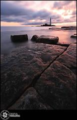 Beachcoma (f22 Digital Imaging) Tags: ocean uk sea england lighthouse water sunrise canon newcastle landscape coast sigma whitleybay crepuscolo stmaryslighthouse stmarysisland britishseascapes crepuscolosunsetssunrisesnights f22digitalimaging