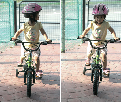 aina's first bicycle