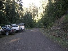 Parking area at Big Quilcene Trailhead.