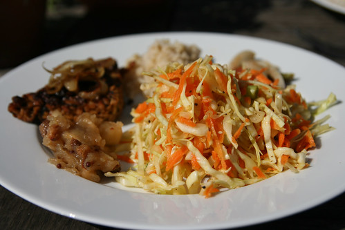 Leftover tempeh and cabbage salad