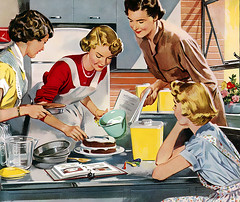 1952-icing-cake (x-ray delta one) Tags: vintage magazine ads advertising suburban ad suburbia retro nostalgia 1940s 1950s americana 1960s atomic populuxe housewife coldwar popularscience popularmechanics magazineillustration atomicpower