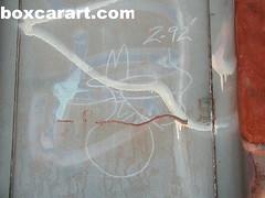 Unknown Legend ( boxcar art freight train graffiti ) (4 I ARCHIVES) Tags: railroad art train graffiti michael sketch artist streak tag tags unknown worker 1992 boxcar streaks legend hobo 92 freight poulin monikers moniker boxcarartcom