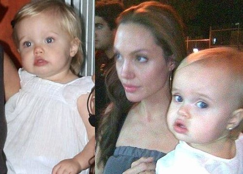 Shiloh and Vivienne Jolie-Pitt: Mirror images!