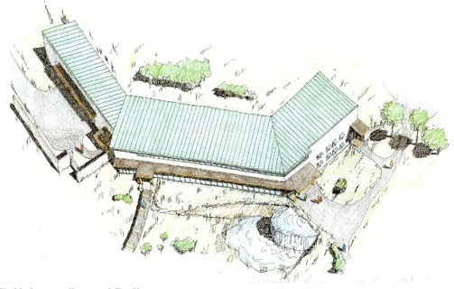 Drawing of proposed visitors center