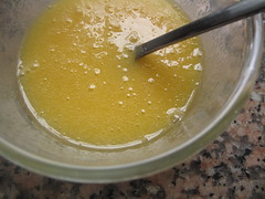 Egg and sugar mixed