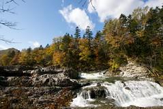 三段滝と境山