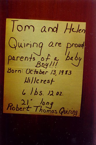 Robert's Birth Announcement