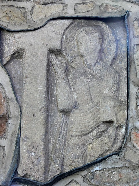 Norman sculpture of saint