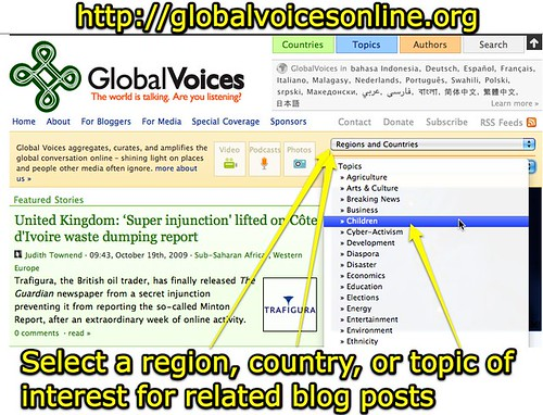 Global Voices Online - Select region, country or topic