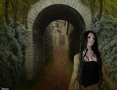 She waited in vain (rubyblossom.) Tags: project photo manipulation 365 archway duc