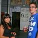Farrah A with artist Brian Boyter