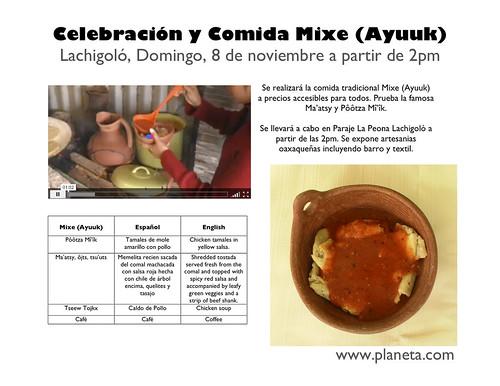 comida mixe, 8 de noviembre