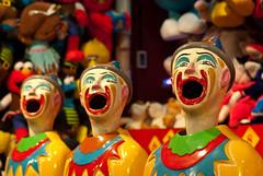 Laughing Clowns (Craig Jewell Photography) Tags: game color colour mouth 50mm amusement colorful ride clown sydney australia fair noflash amusementpark lunapark rides colourful funfair f28 outing 120sec iso280 smcpentaxfa50mmf14 mosmancameraclub 20091030185022igp2336 craigjewellphotography