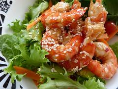 Sesame Prawn Salad, 84/365
