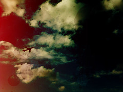 Airport II (() lightweight) Tags: red sky cloud jason nature clouds plane vintage airplane fly flying aeroplane marz