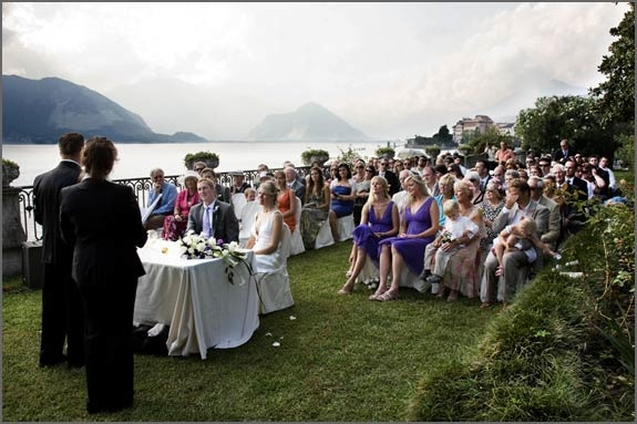 Blessing ceremony at Villa Rusconi Clerici