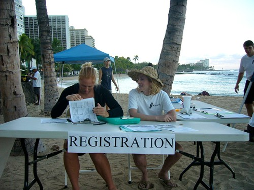 Surf Contest Registration Table