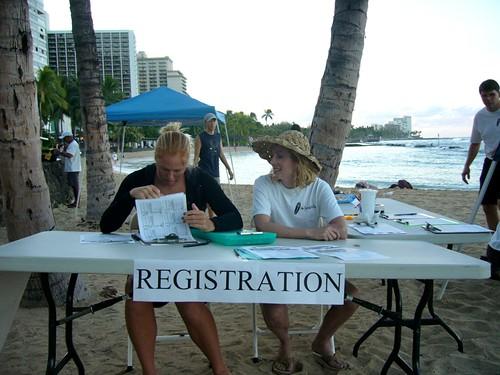 Surf Contest Registration Table