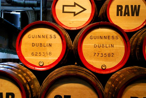 barrels at the guinness brewery
