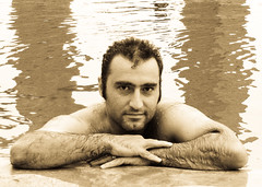 Babak in the pool