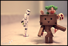 L.O.V.E (achew *Bokehmon*) Tags: wallpaper white black love broken smile yellow zeiss toy happy starwars amazon triangle comic sad candy heart sony piano run carl disappointed stormtrooper alpha lollipop tone yotsuba danbo 2470 a850 revoltech danboard incompete