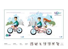 casalbike (eduardowestin) Tags: cidade bike bicicleta casal cabelo passeio vetor epiduo