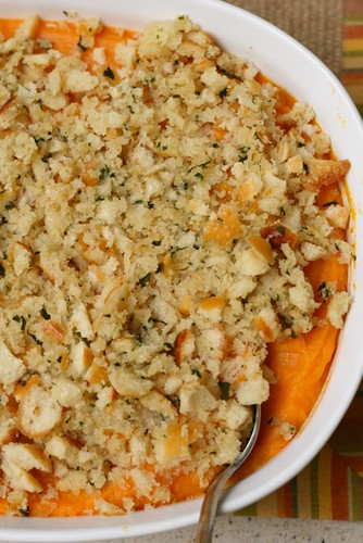 Sweet Potatoes with Sage Butter Crumb Topping