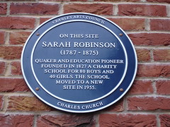 Photo of Sarah Robinson blue plaque