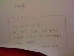 PLEASE, DO NOT VOTE;