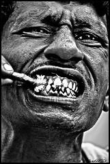 tooth brushing [II] -TOM_2273-acwMS (tomas teneketzis) Tags: portrait india nikon d200 toothbrushing tomasteneketzis teneketzis