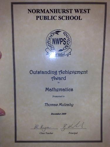 Tom's award