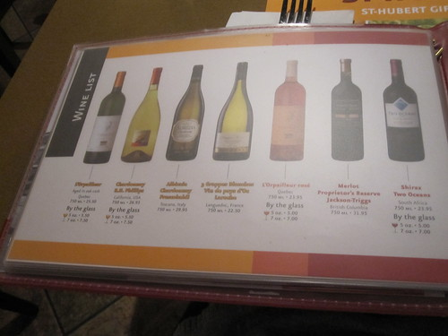 I like the look of the wine list