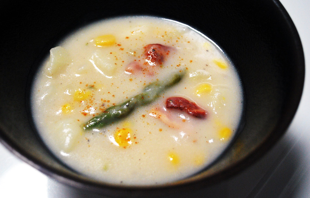 Potato Asparagus Corn Chowder