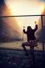 Carrie (Cody Bralts) Tags: urban cold girl fence air breath steam indie gravel 1224 d90 teennikon