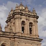 Cusco: Torre del lado de la Epístola de la Catedral del Cusco