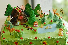 Enchanted Forest (LynnInSingapore) Tags: tree cake butterfly dessert lemon swan gingerbread hersheys jellybean marshmellow pretzel carrotcake fondant buttercream gumpaste royalicing
