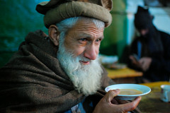 Portrait from the Teahouse - Abbotabad (friend_faraway - Moved to IPERNITY.COM) Tags: pakistan portrait man tea oldman bazaar teahouse chay abbotabad
