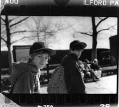 tris and isaac (Ollie Lott) Tags: new york city nyc white ny black tristan nikon isaac first 400 prints series pan fe ilford nydontsleep