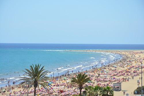 Playa del Inglés en Gran Canaria