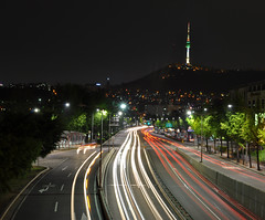 Seoul, the city than never sleeps (Jonak - Indian wedding photographer) Tags: seoul longexposer d90 seoulnight itaweon namsontower