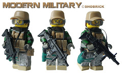 Modern military Fox / Revolution : no glue (Shobrick) Tags: modern army mod lego military camo h revolution vest custom ammo scar pouches holster acu warfare tactical etape minigig shobrick